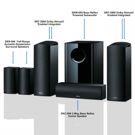 ONKYO 5.1.2 Channel Home Cinema Speaker Set