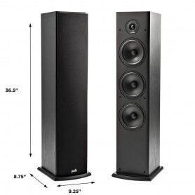 Polk Audio T50 4 Way Tower Speaker (Pair)