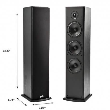 Polk Audio T50 4 Way Tower Speaker (Pair)